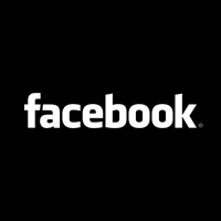 Facebook black logo